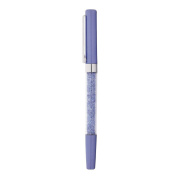 Blue Plated Removable Cap Crystal Pen