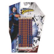 Superman DC Comics Pencil with Eraser Set 10 Pack