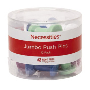 Necessities Brand Jumbo Push Pins 12 Piece