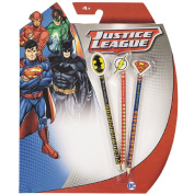 Justice League DC Comics HB Pencil with Toppers Set 3 Pack