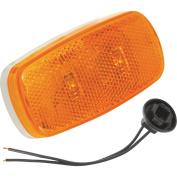 Bargman 42-38-034 Sealed LED Clearance Light #38 - Amber