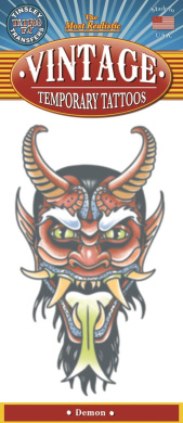 Tinsley Transfers Demon Vintage Temporary Tattoo FX