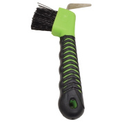 Grip Hoof Pick Brush Strong Metal Hooves Ergonomically Designed Handle Lime
