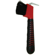 Partrade Trading Corporation Partrade Rubber Grip Hoof Pick w/Brush 80cm Red