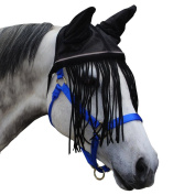 Derby Mesh Fly Bonnet with Fringes & Reflective Trim for Horses