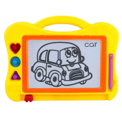 Samber Children Drawing Board magnetic writing board baby small blackboard Erasable Learning Writing Drawing Painting Sketching Pad Doodle Toy For Kids Children/Yellow