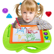 Samber Children Drawing Board magnetic writing board baby small blackboard Erasable Learning Writing Drawing Painting Sketching Pad Doodle Toy For Kids Children/Green