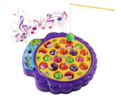 FlowerKui Soft Music Adjustable Toy Game Board with Fishing Rods and Fishes Game