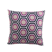 Hoomall Bohemia Sofa Squares Cushion Case Throw Pillow Cover without Core 46cm x 46cm Purple Honeycomb