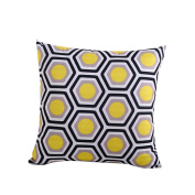Hoomall Bohemia Sofa Squares Cushion Case Throw Pillow Cover without Core 46cm x 46cm Yellow Honeycomb