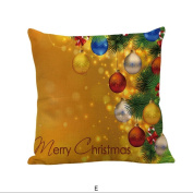 Fashion Xmas Pillow Case Soft, YOYOUG Happy Christmas Pillow Cases Linen Sofa Cushion Cover Home Decor Pillow Case