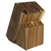 Knife Block Acacia Wood / Knife Holder Raf By Coninx | Knife Block Made Of High Quality Acacia Wood | Without Knives | Safe, Secure & Easy Storage Solution for Kitchen Knives, Scissor & Sharpener | Block Sets |