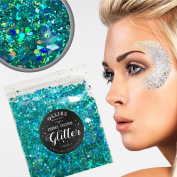 20g Chunky Festival Cosmetic Glitter With Holographic And Iridescent Mixed Loose Flakes For Face Skin Body Hair Lips Nails Decoration Multi Colour Funky Mixes