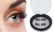 Magnetic False Eyelashes Extension 3D Reusable No Glue Required Thin Natural Look Fake Eyelashes 0.2mm Magnet Easy to Apply Eye Lashes with Case