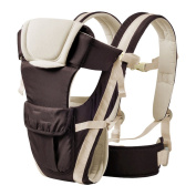 GZQ Baby Carrier 360° Ergonomic Infant Front Back Ring Sling Safety Comfort Backpack Wrap for Newborn Toddlers 3-36 Months - Can Hold Baby in Different Positions