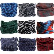Headwear Wide Headbands Scarf Head Wrap Mask Neck Warmer by VANCROWN