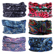 Lotuyacy Outdoor Wide Headband,Elastic Seamless Scarf UV Resistence Sport Headwear for Men & Women,Workout,Yoga,Multi Function,Constructed with High Performance Moisture Wicking Microfiber
