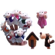 Fairy Tale The Wolf and the Seven Little Goats Finger Puppets Storytelling Dolls Kids Children Baby Educational Toys
