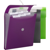 Smead Campus.org Vertical Step Index Poly Organiser 70918, 6 Pockets, Flap and Cord Closure