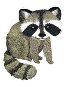 """Nature weaved in threads, Amazing Baby Animal Kingdom [Baby Raccoon] [Custom and Unique] Embroidered Iron on/Sew patch [4.""""4""""] [Made in USA]"""