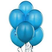 Balloons 43cm PARTY-TEX Crystal Blue Latex Pkg/50