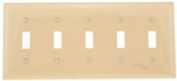 SWITCH 5 GANG WALLPLATE IVORY