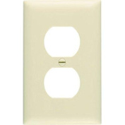 Pass & Seymour SP8IUCC100 Smooth Wall Plate Single Gang Duplex Easy Instal, Ivory