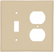 Arrow Hart 2138 Combination Standard Wall Plate, 2 Gang, 10cm - 1.3cm L x 12cm W x 0.2cm T, Ivory