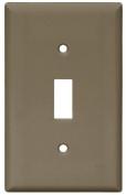 Arrow Hart 5134 Standard Wall Plate, 1 Gang, 10cm - 1.3cm L x 5.1cm - 1.9cm W x 0.2cm T, Brown