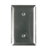 Pass and Seymour SS14 Non-Magnetic Stainless Steel Single Gang Strap Mount Blank Wall Plate