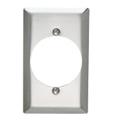Pass and Seymour SS724 Non-Magnetic Stainless Steel Single Gang Single 5.4cm Power Receptacle Wall Plate