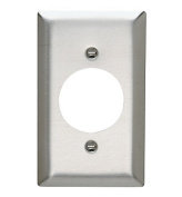 Pass and Seymour SS721 Non-Magnetic Stainless Steel Single Gang Single 4cm Power Receptacle Wall Plate