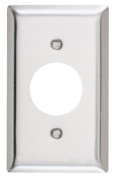 Pass and Seymour SS7-D Non-Magnetic Stainless Steel Single Gang Single Receceptacle Wall Plate