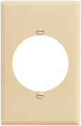 Cooper 2068V Ivory Mid-Size Single Gang Single 5.5cm Receptacle Wall Plate