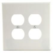 Arrow Hart 2150W-BOX Standard Wall Plate, 2 Gang, 10cm - 1.3cm L X 12cm W X 0.2cm T, White