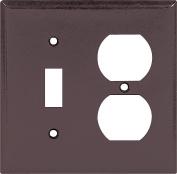 Arrow Hart 2138 Combination Standard Wall Plate, 2 Gang, 10cm - 1.3cm L x 12cm W x 0.2cm T, Brown