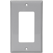 Cooper 5151GY Grey Unbreakable Single Gang Decorator Wall Plate