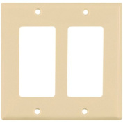 Cooper 5152V Ivory Unbreakable Two Gang Decorator Wall Plate