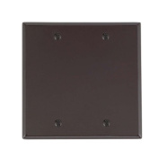 Cooper 2137B Brown Two Gang Blank Box Mount Wall Plate
