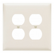 Pass and Seymour TP82-LA light almond Trademaster Jumbo Two Gang Duplex Receceptacle Wall Plate