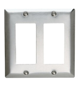 Pass and Seymour SS262-D Non-Magnetic Stainless Steel Two Gang Decorator Wall Plate