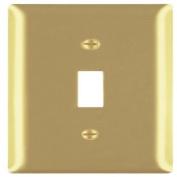 Legrand-Pass & Seymour SB1PB Wall Plate Smooth Polished Brass Single Gang Single Toggle