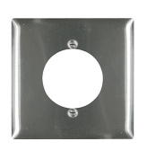 Pass and Seymour SS702 Non-Magnetic Stainless Steel Two Gang Single 5.4cm Power Receptacle Wall Plate