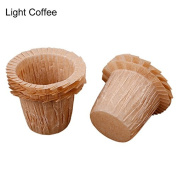 30pcs Paper Cake Cases Grease-proof Mini Tulip Baking Cups Paper Cupcake Liner Cases Muffin Wrappers Light Coffee