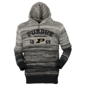 NCAA Purdue Boilermakers Unisex Gradient Hooded Sweater, Black, X-Large