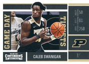 Basketball NBA 2017-18 Panini Contenders Draught Picks Game Day Tickets #27 Caleb Swanigan