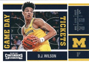 Basketball NBA 2017-18 Panini Contenders Draught Picks Game Day Tickets #26 D.J. Wilson