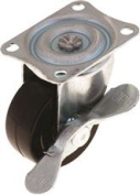 INDUSTRIAL SWIVEL CASTER WITH BRAKE, 5.1cm .