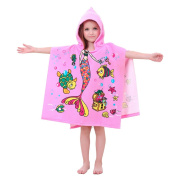 Children's Bath Towel 6-13 Olds, Cotton Bathrobe Beach Kid's Hood Towels Cloak Bathrobe Anti-cold Hot Use for Spring, Summer, Autumn, Winter
