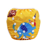 Hi Sprout Unisex Snap Reusable Baby Absorbent Swim Nappies Adjustable One Size,Happy Clown